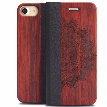 2017 new trendy alibaba hot products wholesale mobile phone for iphone 7 wood case for iphone 7 flip