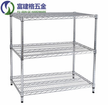 Chrome Wire Shelving, NSF Quality Standard for Home and Factory Storage, 3 Tier industrial wire shelving