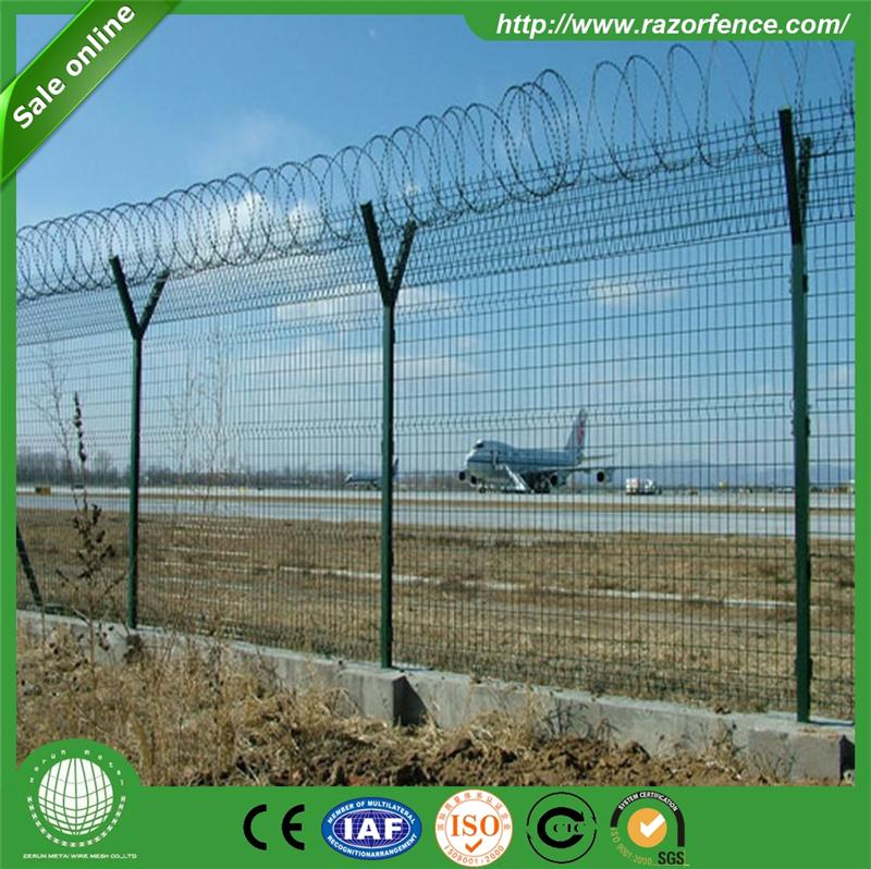 y shaped metal bracket galvanized welded airport fence