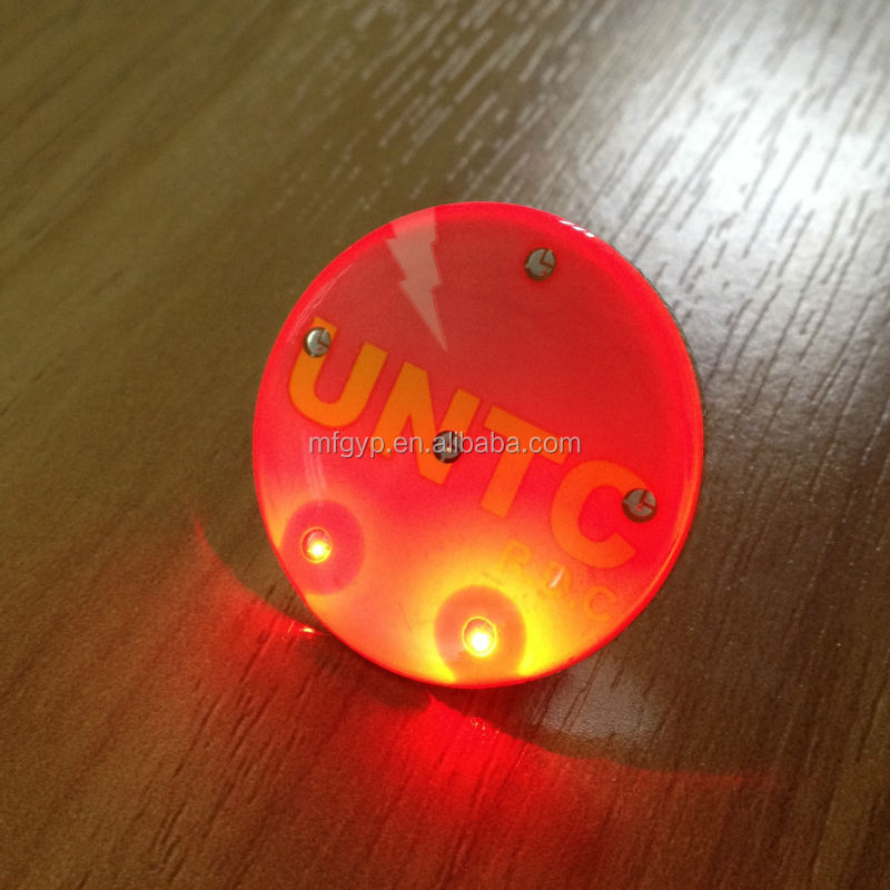 New products wholesale custom led flashing badge pins
