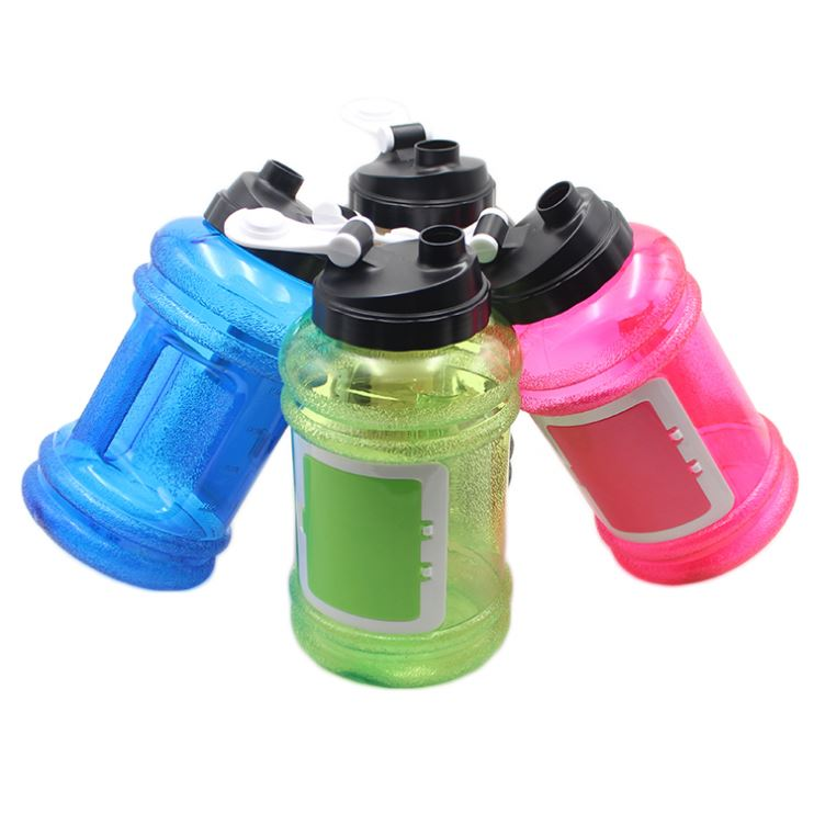 Transparent color 2.2L Sport Water Bottle Environmentally Safe BPA Free Gym Training Handle Drink