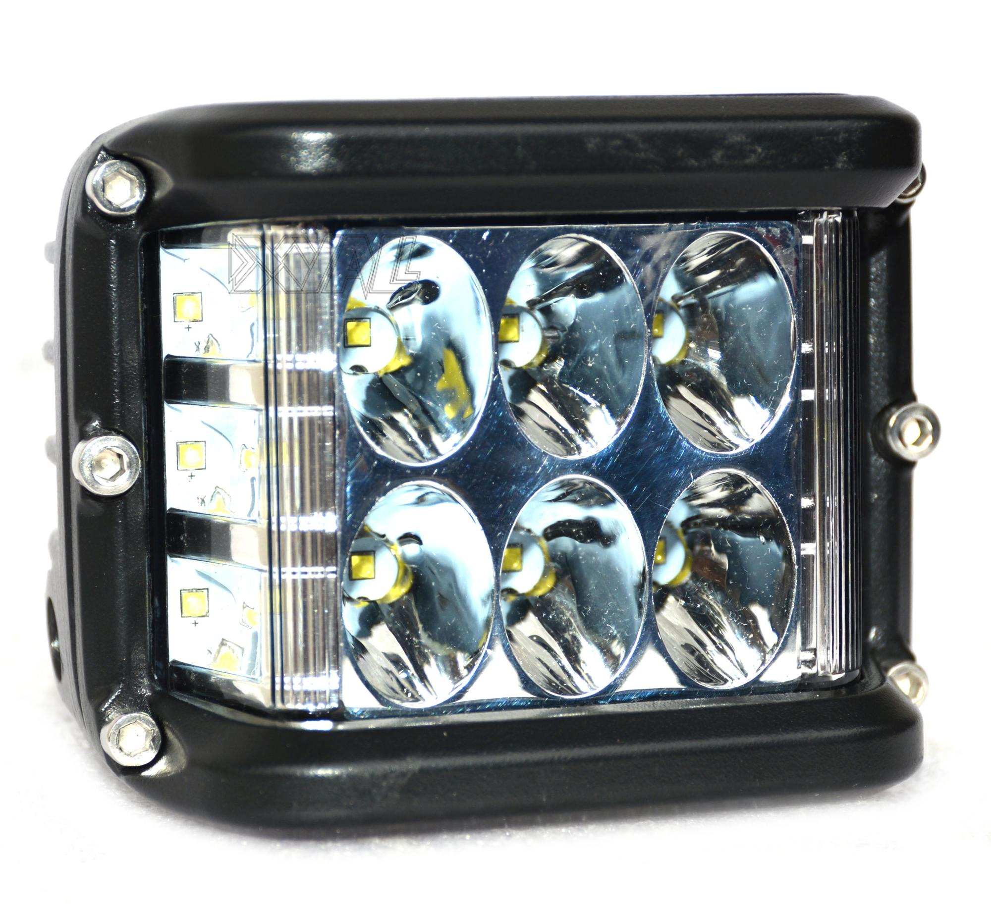 36W Square LED Cubes Full Reflector Work Light Offroad Driving Light for Jeep Truck ATV SUV