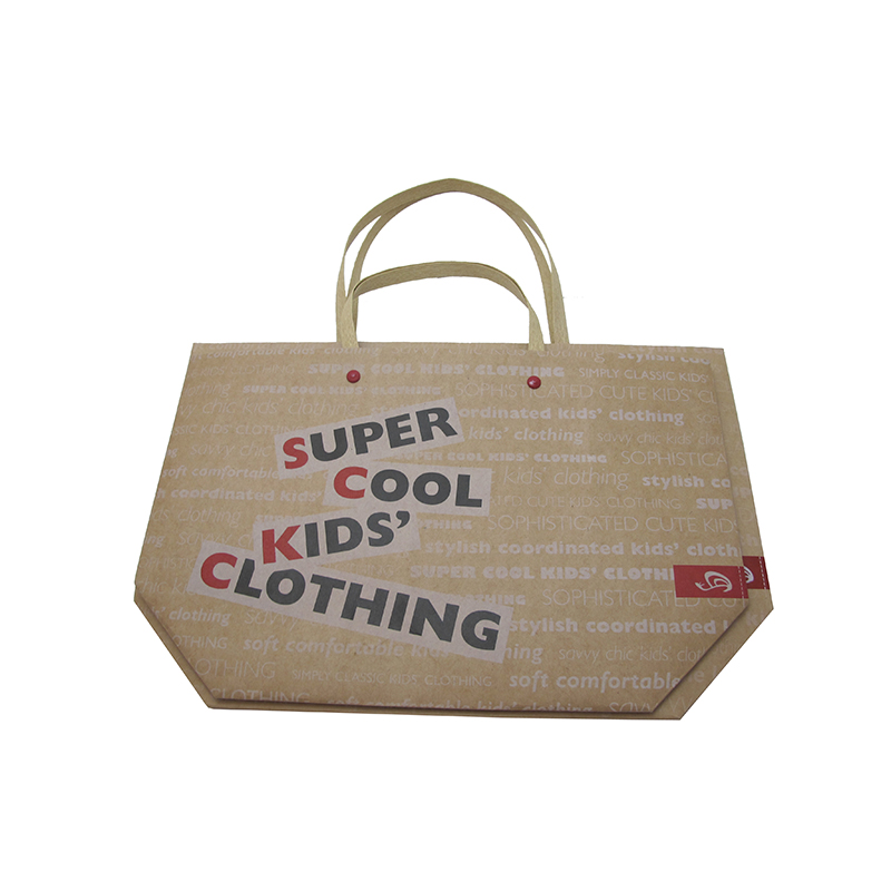 wholesale custom flat handle kraft paper bag fancy design custom made paper bags
