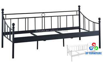 New metal wrought iron single sofa cum bed cot day bed manufacturer