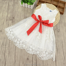 Exquisite sequins flowers embroidery princess yarn dress for girls