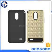 China Manufacturer Wholesale Bling Mobile Phone Cover For LG Stylo 3 Rhinestone Diamond Hard Cover Shockproof Case