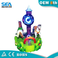 haimao new Attract attention game canton fair 2015 arcade machine in door happy ride used small kids ride used carousel for sale