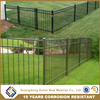 Wholesale & low price black powder painted steel used aluminum fence, metal sheet fence