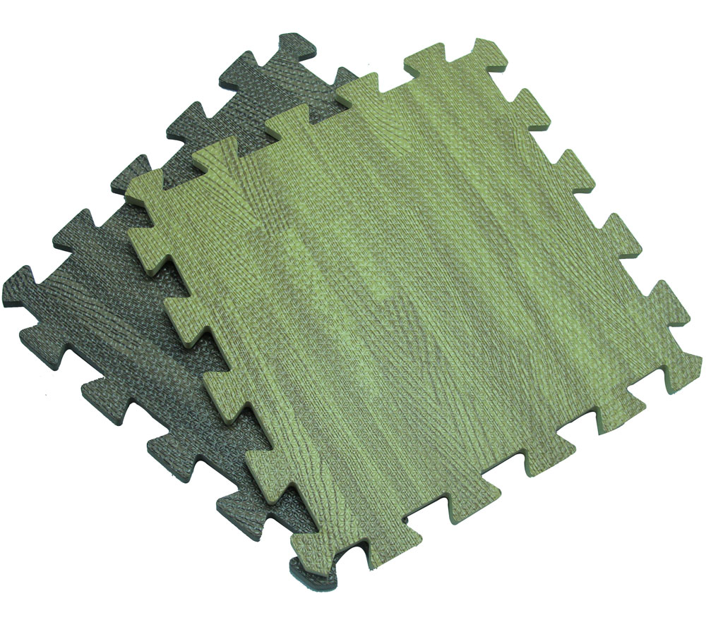 2016 hot wholesale high quality eco-friendly antislip Wood grain Heat Transfer EVA Foam Interlocking Mat at low price
