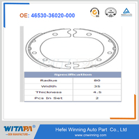 OEM Brake Shoe 46530-36020-000 With Genuine Quality From Manufacture In TS16949/ISO9001