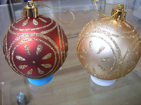 2015 New Design wholesale clear glass christmas ball ornaments from china factory