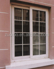 Double Glass Aluminum Sliding Window , grills inside double glass aluminum window