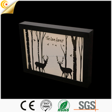 Hot selling china imoprted wooden color changing led light box