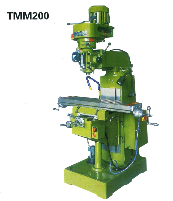 Vertical Turret Milling Machine With Horizontal Milling Function TMM200