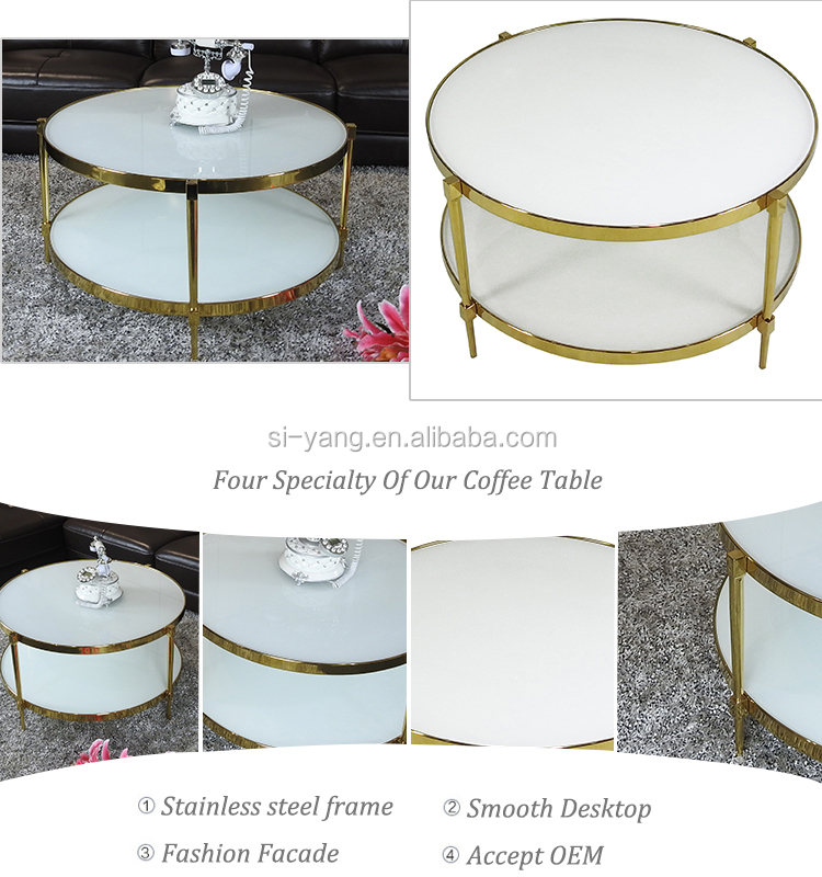 Home furniture coffee table modern coffee side table stainless steel coffee table CJ019