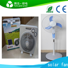 China High quality 12v dc rechargeable solar powered outdoor fans
