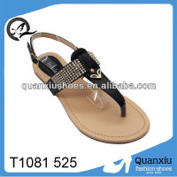 upper rhinestone decorate flat lady sandals,rhinestone decorate heart lady sandals wholesale 2013