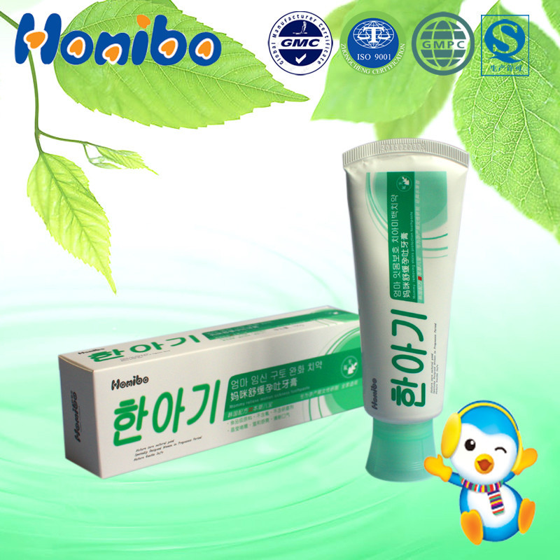 Honibo korea pregnant mum use herbal toothpaste