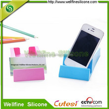 Creative desk name card holder phone stand
