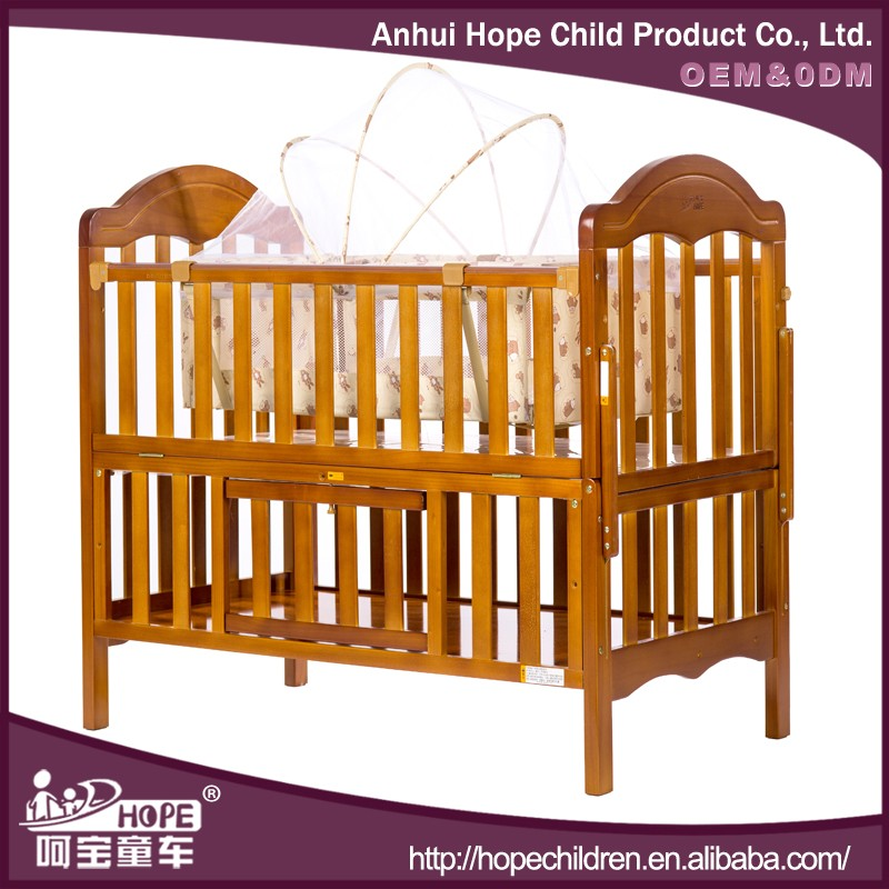 automatic swing baby bed solid wood baby cradle