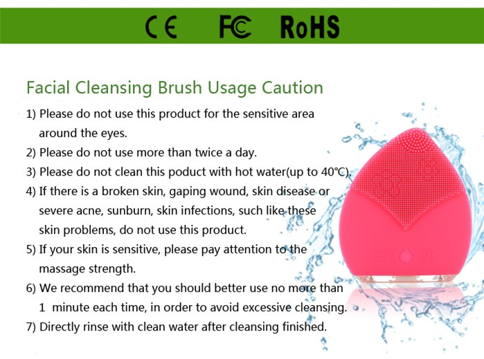 popular facial deep cleaning machine silicone face brush with ultrasonic vibration massage