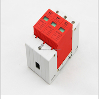 5 pieces Household AC Din Rail SPD 3P 30-60kA 385V Low Voltage Lightning Protection Surge Protective Device