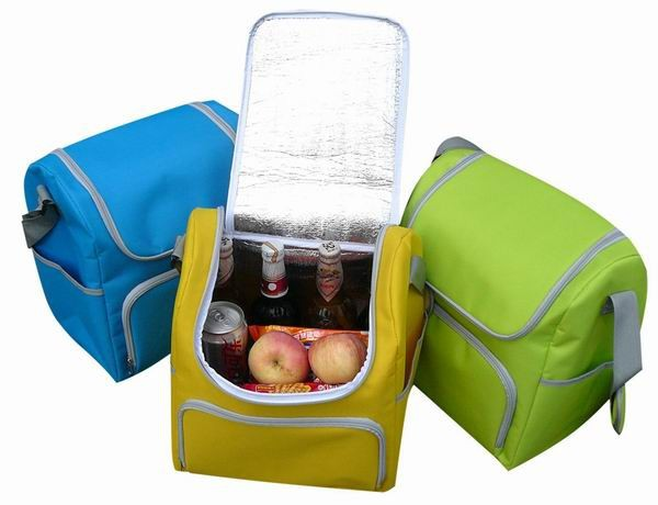 2015 new design polyester inner cool lunch bag