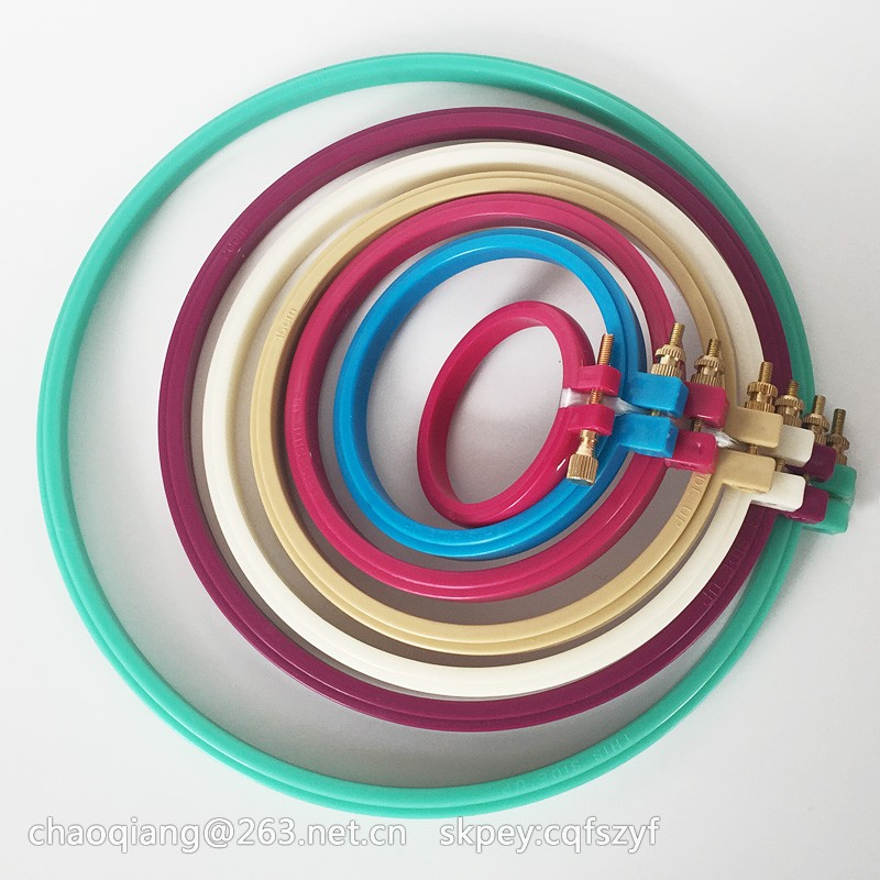 how to use plastic embroidery hoop