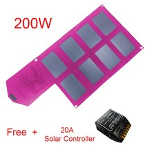Fashion portable economic foldable high efficient 200w solar mobile charger for outdoor going