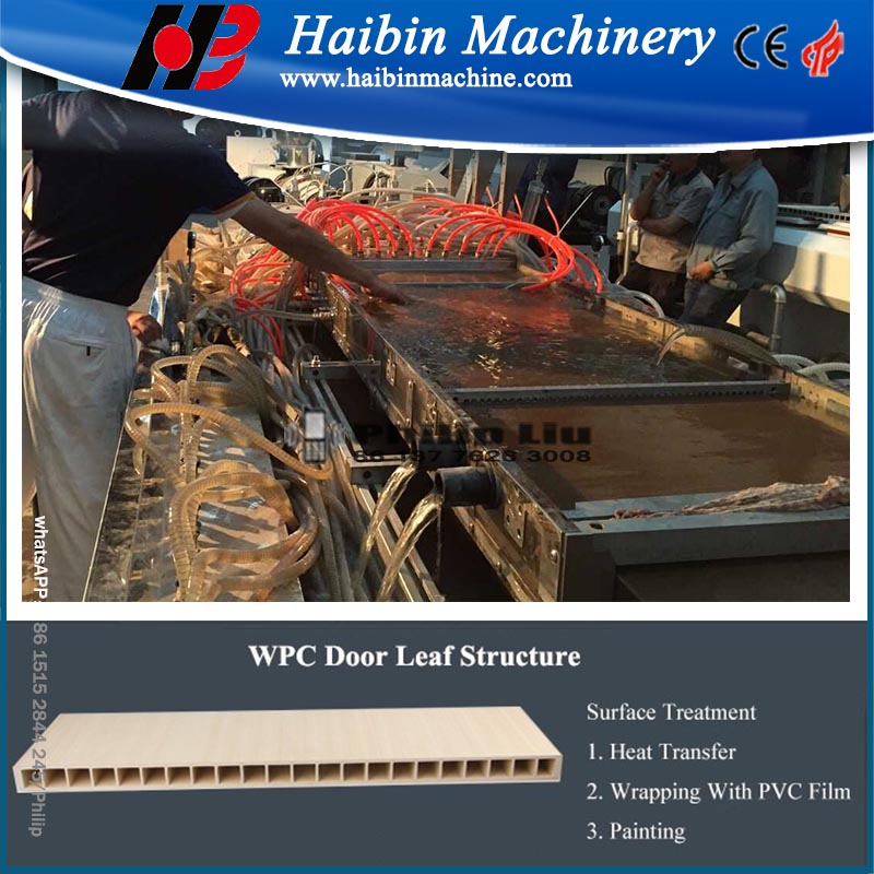 wpc decking board panel wood plastic production line