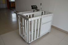 sheep weighing crates