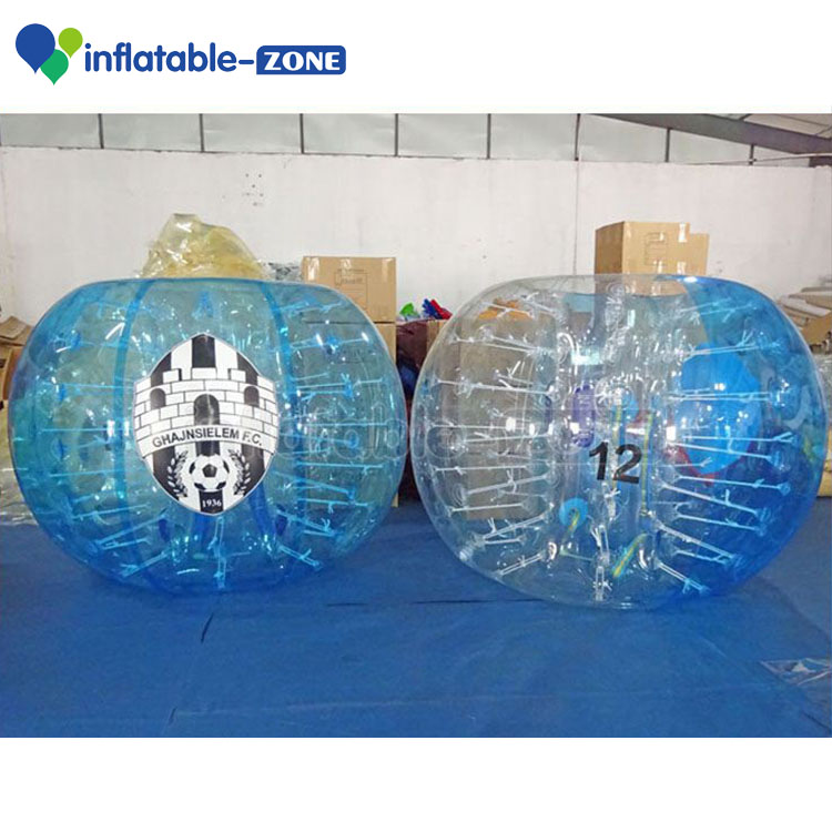 Bubble soccer Professional factory clear bubble football glowing soccer ball / bubble football