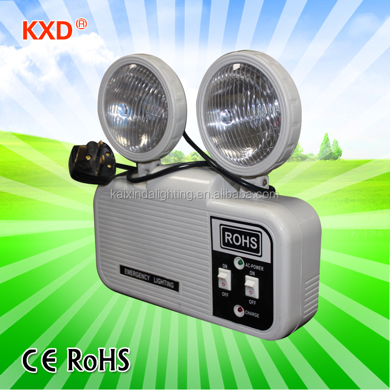 2*2W twin head battery backup rechargeable LED fire emergency light