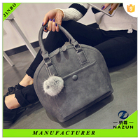 2016 latest trendy custom-made matt PU leather bags woman handbags