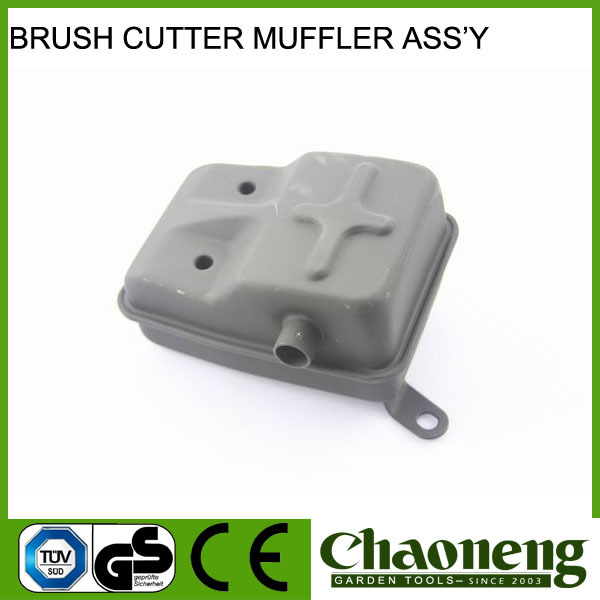 Chaoneng brush cutter spare parts muffler/silencer assy for garden tools