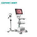 Sanwe CE Approved Trolley Digital Electronic Colposcope,new colposcope with 800000 pixels camera