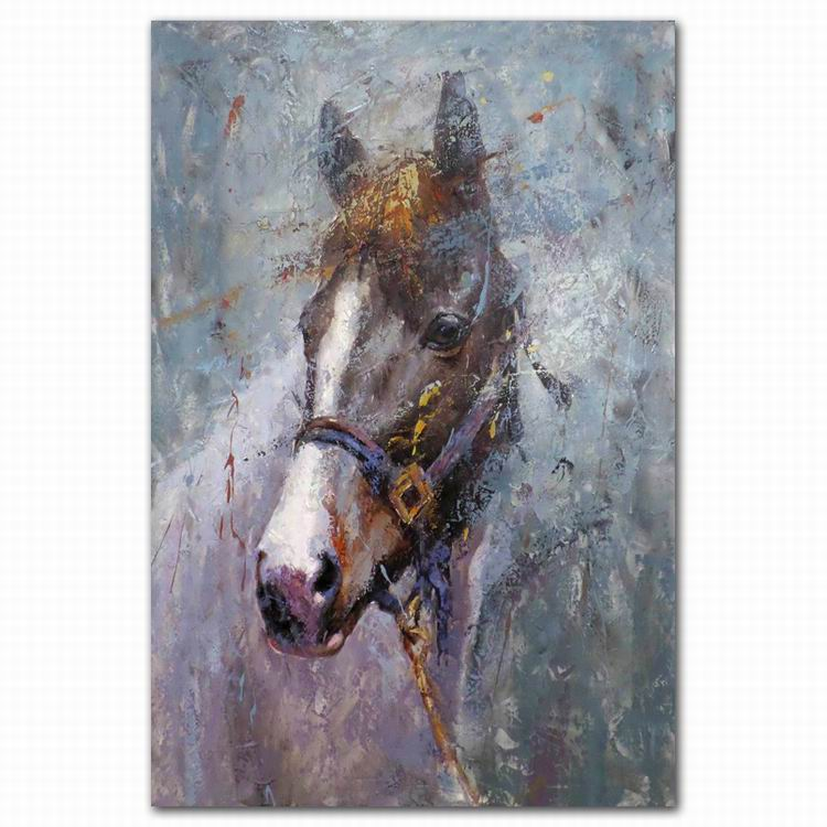 Abstract horse face oil painting hotel wall painting