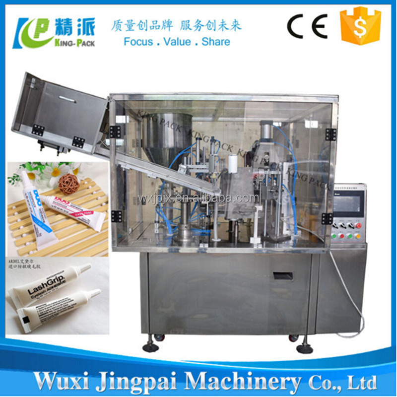 Low price hot air sealing KP 350-B automatic plastic tube filling and sealing machine with batch coding
