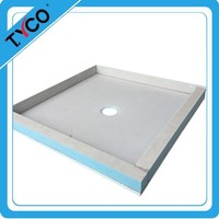 Waterproof PreFormed Ready to Tile Shower Pan For Shower Room
