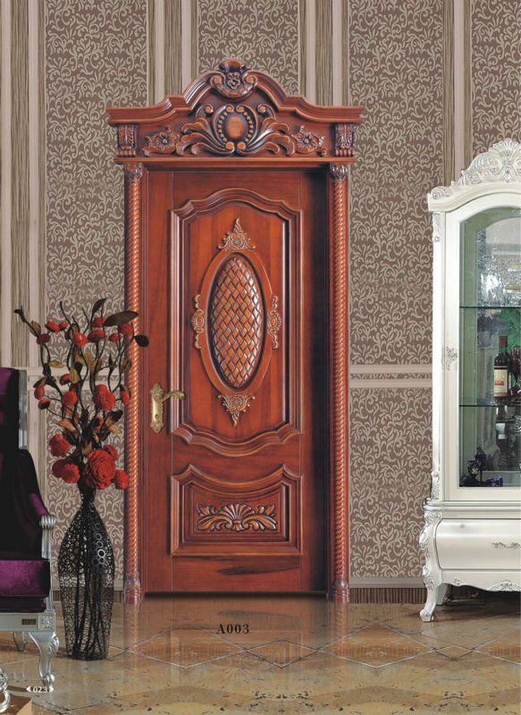 Foshan factory Classical style Solid Wood Interior Doors Wholesale