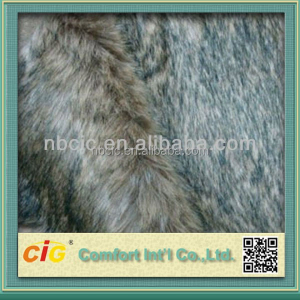 Long Hair Fake Wolf Fur Fabric