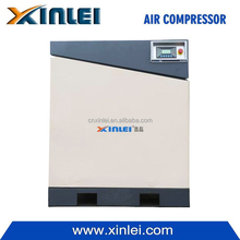 stationary direct driven hermetic screw air compressor 10/8 bar