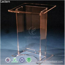 Cheap knockdown acrylic lectern for school