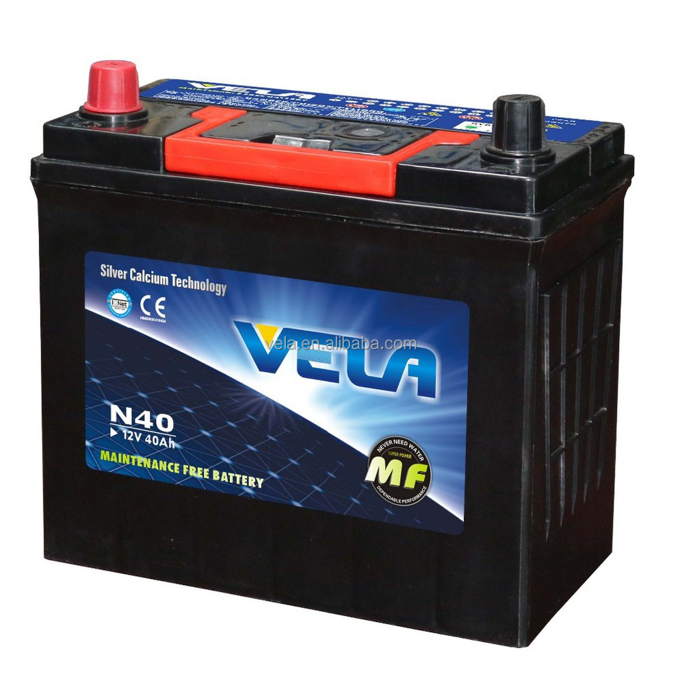 Maintenance free car batteries N40 12V40AH auto spare <strong>parts</strong> car