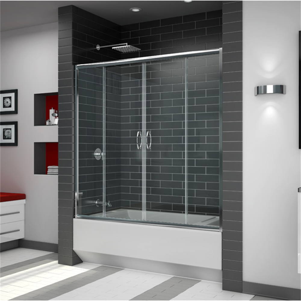 economic price tempered glass sliding door shower/cubicle screen