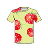 byval wholesale clothing strawberries love custom PDF design file t shirts all over sublimation printing t shirts