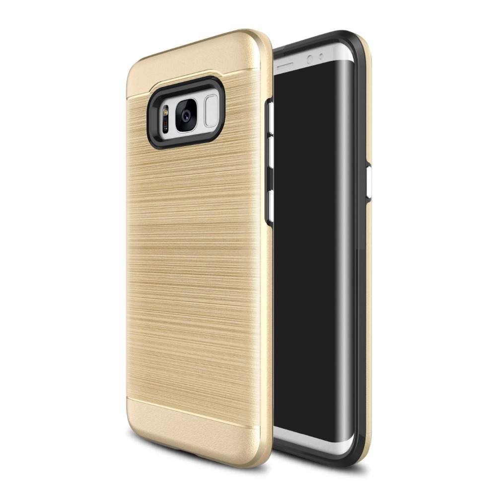 Brush Hard 2in1 TPU PC Case For Samsung Galaxy S8 Rugged Case, Armor Case For S8 Galaxy