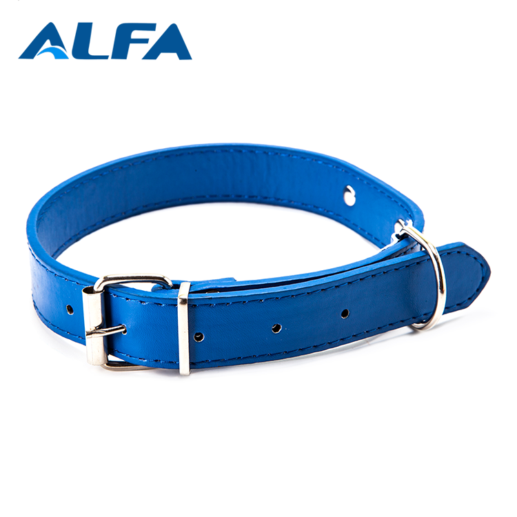 Alfa New Products 2018 Pet Accessories PU Leather Dog Neck Parts Pet Collar Leash