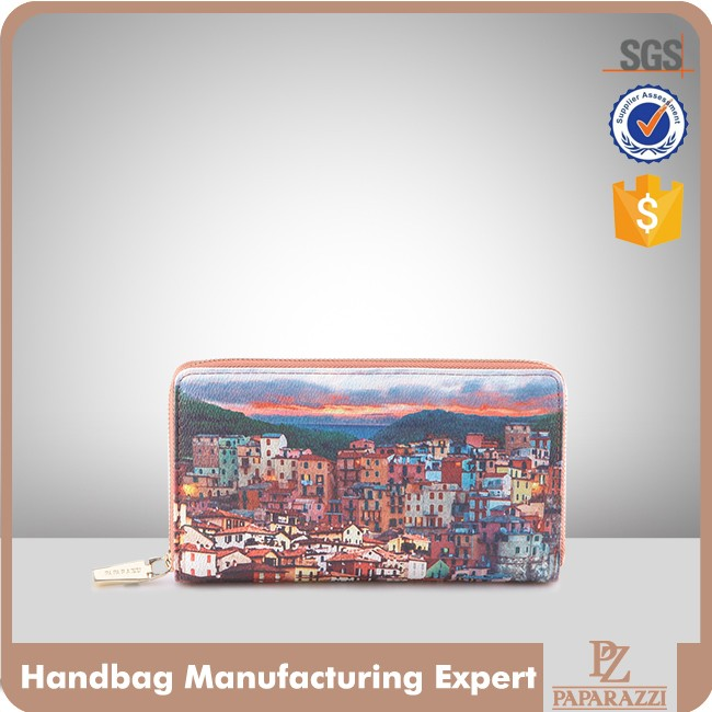 3822-New Arrival Hot Selling Digital Printed PU women Evening Clutch wallet 2016