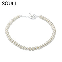 Stylish imitation white bead designs pearl necklace for Christmas present